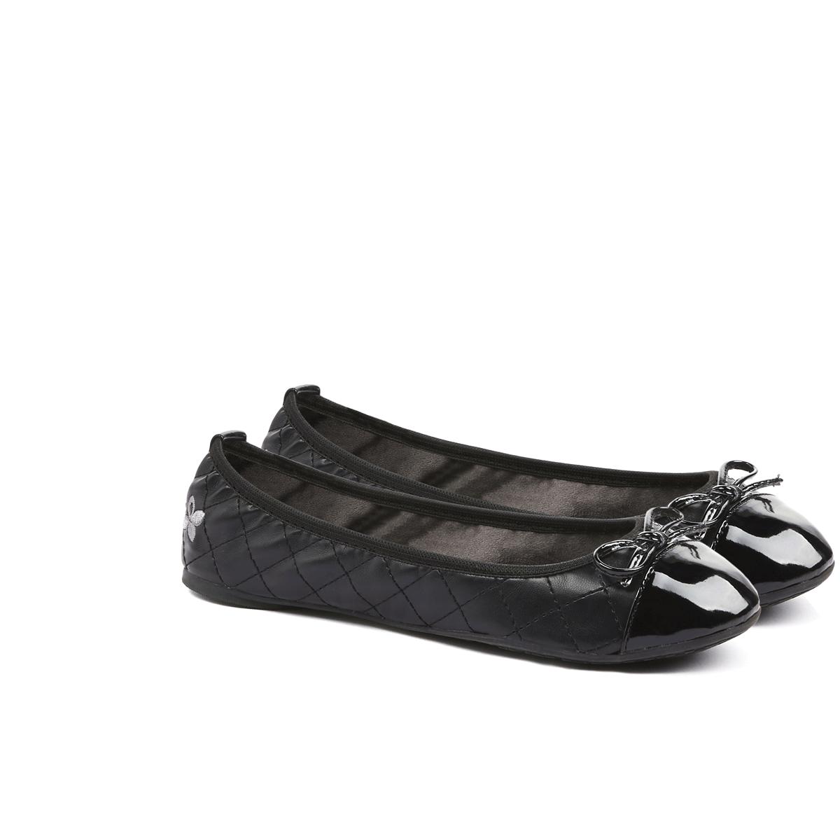 נעלי בובה בצבע שחור לנשים